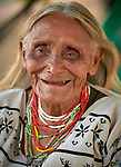 A Warao indigenous woman in Boa Vista, Brazil. She is a refugee from Venezuela, living in a park that she and other Warao refugees invaded. They had previously been sheltered in a government refuge, but found the military-controlled environment oppressive. So they moved out and set up their own refuge in the park, where they receive some support from local Catholics.