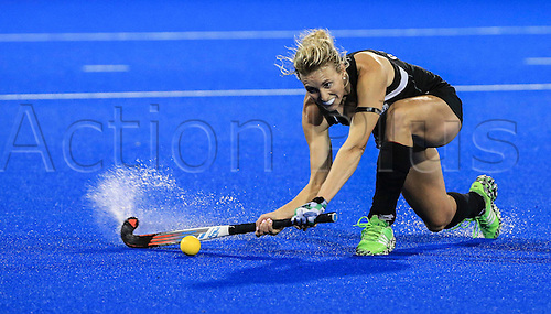 09.04.2016. Hastings, New Zealand.  New Zealand's Emily Gaddum in action. NZL Black Sticks Women versus  Australia. Semi final, Festival of Hockey, Unison Hockey turf, Hastings, New Zealand. Saturday, 09 April, 2016.