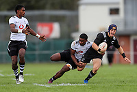 Ruben Love in action during the rugby union match between New Zealand Schools and Fiji Schools at Hamilton Boys' High School in Hamilton, New Zealand on Monday, 30 September 2019. Photo: Simon Watts / lintottphoto.co.nz
