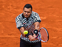Paris, France, 24 June, 2016, Tennis, Roland Garros,  Jo-Wilfried Tsonga (FRA)<br /> Photo: Henk Koster/tennisimages.com
