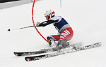 FRANCONIA, NH - MARCH 10:  Joergen Brath of the University of Utah participates in the men's Slalom the Division I Men's and Women's NCAA Skiing Championships held at Jackson Ski Touring on March 10, 2017 in Jackson, New Hampshire. (Photo by Gil Talbot/NCAA Photos via Getty Images)