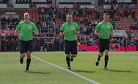 Match officials doing their pre-match warm-up. Matthew Wilkes (left), Kevin Friend (centre) and Nick Hopton (right) <br /> <br /> Photographer David Horton/CameraSport<br /> <br /> The Premier League - Bournemouth v Sheffield United - Saturday 10th August 2019 - Vitality Stadium - Bournemouth<br /> <br /> World Copyright © 2019 CameraSport. All rights reserved. 43 Linden Ave. Countesthorpe. Leicester. England. LE8 5PG - Tel: +44 (0) 116 277 4147 - admin@camerasport.com - www.camerasport.com
