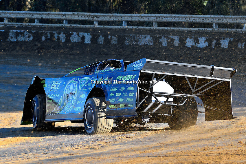 Feb 16, 2014; 4:52:27 PM; Ocala, FL., USA; The Third Annual Bubba Army Winter Nationals World Of Outlaws Super Late Models paying $12,000 to win at Bubba RaceWay Park.  Mandatory Credit: (thesportswire.net)