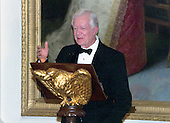 Former United States President Jimmy Carter makes remarks at the 200th Anniversary of the White House dinner in the East Room in Washington, DC on November 9, 2000. <br /> Credit: Ron Sachs / CNP