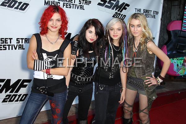 "CHERRI BOMB (NIA NOVELIS, JULIA PIERCE, NIA NOVELIS, MIRANDA MILLER).arrives to the Sunset Strip Music Festival's ""Tribute to Slash"" at the House of Blues Sunset Strip, in recognition of the City of West Hollywood's official 'Slash Day'.West Hollywood, CA, USA. August 26, 2010. ©CelphImage"
