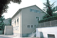 Stuttgart: Weissenhofsiedlung. Standard German house somehow encroaching on Estate.