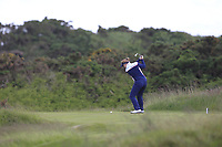 Put Lyng Thomsen (DEN) on the 7th tee during Round 3 Matchplay of the Women's Amateur Championship at Royal County Down Golf Club in Newcastle Co. Down on Friday 14th June 2019.<br /> Picture:  Thos Caffrey / www.golffile.ie