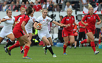 Natasha Hunt in action. WRWC England v Canada, World Cup Final at Stade Jean Bouin, Avenue du Général Sarrail, Paris, France, on 17th August 2014
