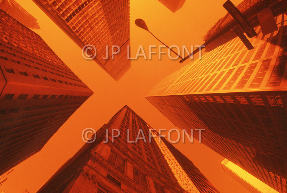 Abstract of  buildings in the Banking district.