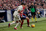 Atletico de Madrid's Santiago Arias and Real Madrid's Sergio Reguilon during La Liga match between Atletico de Madrid and Real Madrid at Wanda Metropolitano Stadium in Madrid, Spain. February 09, 2019. (ALTERPHOTOS/A. Perez Meca)