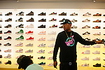 Rap producer Mike WiLL Made It checks out and buys new Air Jordan's at Athlete's Foot in Cumberland Mall in Atlanta, Georgia, October 4, 2012.