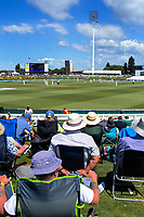 A general view during day one of the international cricket 1st test match between NZ Black Caps and England at Bay Oval in Mount Maunganui, New Zealand on Thursday, 21 November 2019. Photo: Dave Lintott / lintottphoto.co.nz