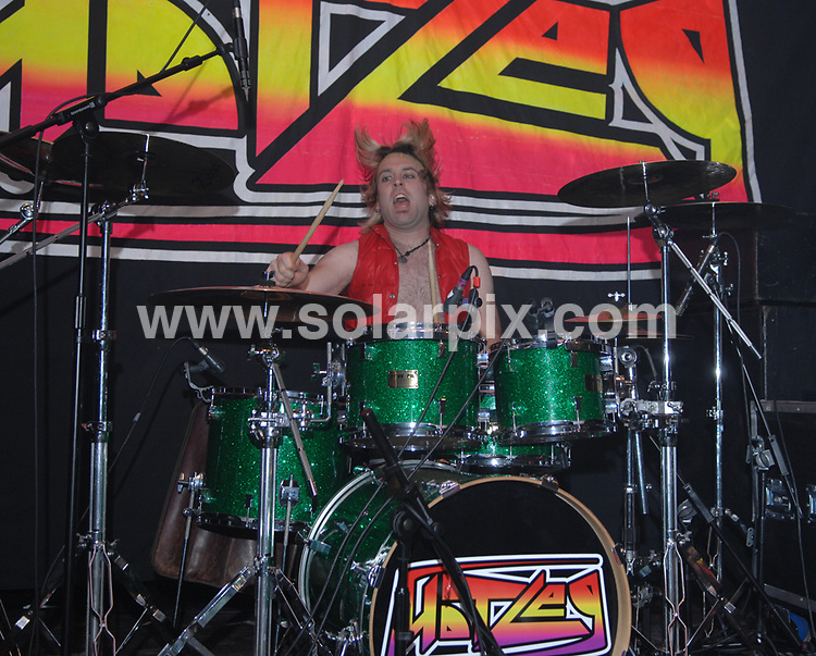 **ALL ROUND PICTURES FROM SOLARPIX.COM**.**WORLDWIDE SYNDICATION RIGHTS**.Justin Hawkins (formerly frontman and singer for The Darkness) performs with his new band Hot Leg, at Barfly, Liverpool, UK. 21st October 2008..This pic: Darby Todd from Hot Leg..JOB REF: 7660 SGD     DATE: 21_10_2008.**MUST CREDIT SOLARPIX.COM OR DOUBLE FEE WILL BE CHARGED* *UNDER NO CIRCUMSTANCES IS THIS IMAGE TO BE REPRODUCED FOR ANY ONLINE EDITION WITHOUT PRIOR PERMISSION*