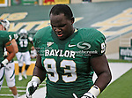 Baylor Bears defensive lineman Suleiman Masumbuko (93) in action during the game between the Stephen F. Austin Lumberjacks and the Baylor Bears at the Floyd Casey Stadium in Waco, Texas. Baylor defeats SFA 48 to 0.