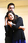 Ryan McCartan and Barrett Wilbert Weed performing at the Open Press Rehearsal for 'Heathers The Musical' on February 19, 2014 at The Snapple Theatre Center in New York City.