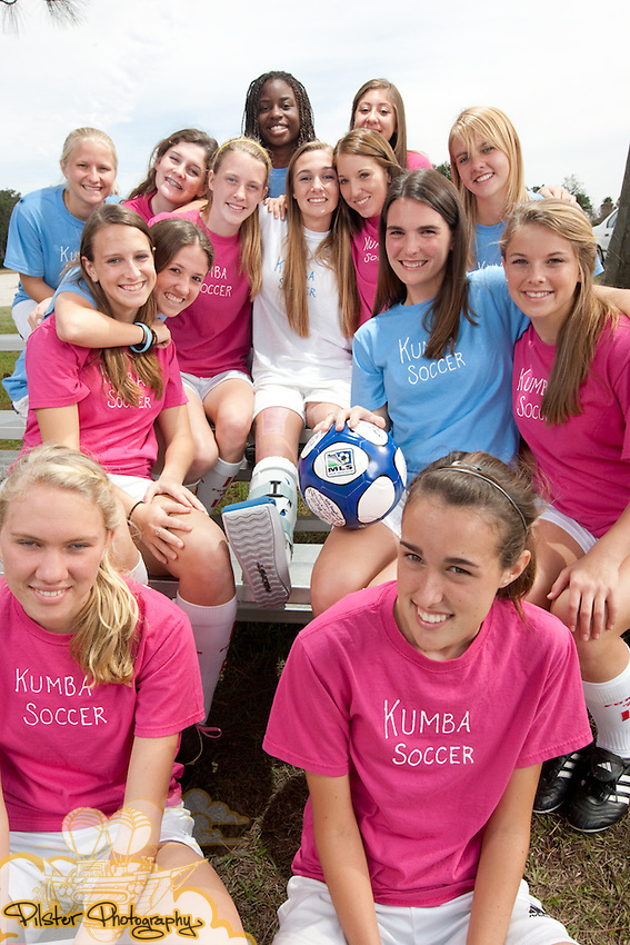 Breanna McMahon with her club team on Thursday, December 31, 2009, at Orista Park in Orlando, Florida. McMahon and her teammates held a car wash fundraiser in Winter Park on Saturday, September 26, 2009, for their soccer team. A 17-year-old driver, who is McMahon's best friend, accidentally backed her car into McMahon and pinned her against a wall. (Chad Pilster, http://www.PilsterPhotography.com)