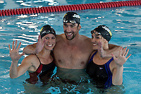 "Olympic medalist Michael Phelps and his sisters Hilary and Whitney attend the ""Official Training Restaurant of the Phelps Family"" and event organized by the food company ""Subway"" in New York, United States. 15/10/2012. Photo by Kena Betancur/VIEWpress."