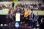 12 MAR 2011: The 133 lbs awards ceremony during the Division III Men's Wrestling Championship held at the La Crosse Center in La Crosse Wisconsin. Stephen Nowland/NCAA Photos
