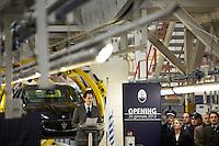 Torino: il Presidente FIAT John Elkann parla durante l'inaugurazione del nuovo stabilimento Maserati Gianni Agnelli Plant durante l'avvio della produzione della nuova Maserati Quattroporte...Turin:  President of FIAT John Elkann speaks in the new Maserati plant dedicated to Gianni Agnelli. .It will produce the new model of Maserati Quattroporte.