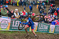 Picture by Alex Whitehead/SWpix.com - 03/02/2018 - Cycling - 2018 UCI Cyclo-Cross World Championships - Valkenburg, The Netherlands - Great Britain's Nikki Brammeier in action during the Elite Women's race.