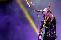 Paty Cantu durante su presentacion en la feria de Puebla el 24 Abril 2014<br /> (*Foto:Hilda Rios/NortePhoto*)
