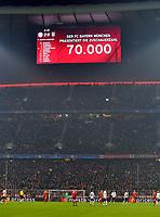 20.02.2018, Football UEFA Champions League 2017/2018, , FC Bayern Muenchen - Besiktas Istanbul, in Allianz Arena Muenchen, Ausverkauftes Haus - 70000 Zuschauer *** Local Caption *** © pixathlon<br /> <br /> Contact: +49-40-22 63 02 60 , info@pixathlon.de