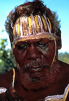 PREPARING FOR A CEREMONY, ABORIGINAL FROM BATHURST ISLAND