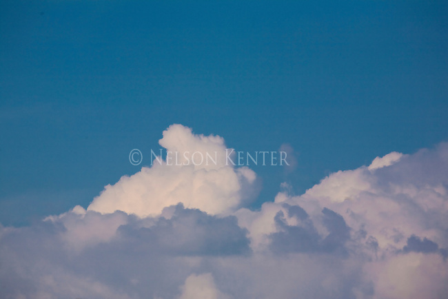 Cumulous clouds and blue sky in Big Sky Country