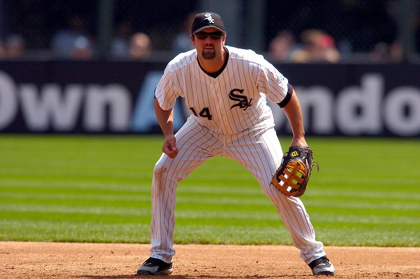 Chicago White Sox first baseman Paul Konerko during the 2006 MLB season.