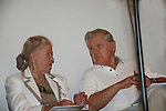 Rosemary Rice and Bob Hastings reading The Lone Ranger - Old-time Radio Drama re-creation at 4th Annual Mid-Atlantic Nostalgia Convention in Aberdeen, Maryland. (Photo by Sue Coflin/Max Photos)