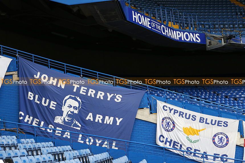A John Terry banner on display at Stamford Bridge during Chelsea vs Sunderland AFC, Premier League Football at Stamford Bridge on 21st May 2017