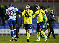 Blackburn Rovers' Corry Evans applauds his side's travelling supporters at the end of the match  <br /> <br /> Photographer Andrew Kearns/CameraSport<br /> <br /> The EFL Sky Bet Championship - Reading v Blackburn Rovers - Wednesday 13th February 2019 - Madejski Stadium - Reading<br /> <br /> World Copyright © 2019 CameraSport. All rights reserved. 43 Linden Ave. Countesthorpe. Leicester. England. LE8 5PG - Tel: +44 (0) 116 277 4147 - admin@camerasport.com - www.camerasport.com