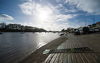 Putney, London,  Tideway Week, Championship Course. River Thames, OUWBC and CUWBC, Boating outside Thames RC, <br /> <br />  Saturday  01/04/2017<br /> <br /> [Mandatory Credit; Credit: Peter SPURRIER/Intersport Images.com ]