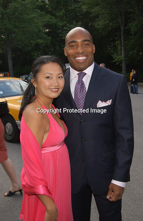 Tiki Barber & wife Ginny                                ..at the Fresh Air Fund's Salute to American Heroes Gala on ..June 5,2003 at The Tavern on The Green...Photo by Robin Platzer, Twin Images