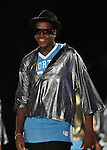 """13 October 2006: UNC freshman William Graves during a skit performed for the fans. The University of North Carolina at Chapel Hill Tarheels held their first Men's and Women's basketball practices of the season as part of """"Late Night with Roy Williams"""" at the Dean E. Smith Center in Chapel Hill, North Carolina."""