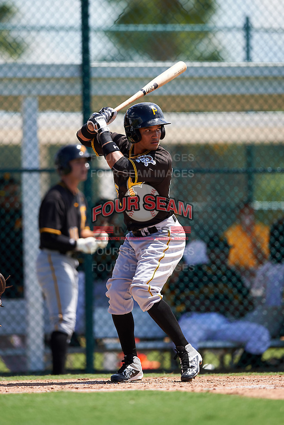 Pittsburgh Pirates second baseman Adrian Valerio (59) during an Instructional League Intrasquad Black & Gold game on September 21, 2016 at Pirate City in Bradenton, Florida.  (Mike Janes/Four Seam Images)