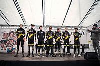 Team AG2R La Mondiale pre race team presentation<br /> <br /> 71st Kuurne-Brussel-Kuurne (2019)<br /> Kuurne > Kuurne 201km (BEL)<br /> <br /> ©kramon
