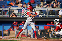 Williamsport Crosscutters outfielder Zachary Coppola (11) at bat during a game against the Batavia Muckdogs on July 15, 2015 at Dwyer Stadium in Batavia, New York.  Williamsport defeated Batavia 6-5.  (Mike Janes/Four Seam Images)