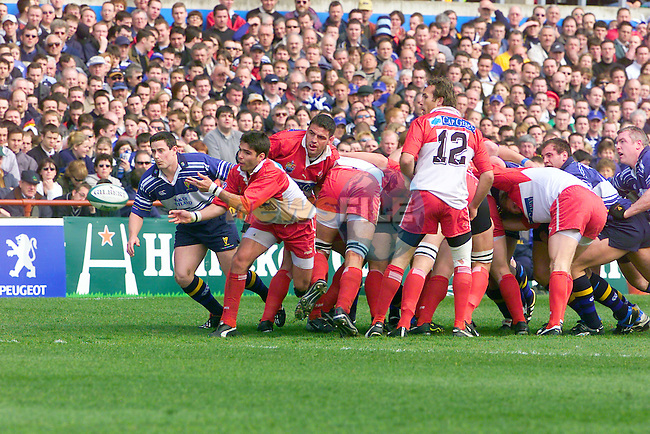 Biarritz Dimitri Yachvilli clears the ball from leinsters Gordon D'Arcy during the Leinster V Biarritz match in Lansdowne road Dublin Ireland.Photo Fran Caffrey/Newsfile.ie..This picture has been sent to you by:.Newsfile Ltd,.3 The View,.Millmount Abbey,.Drogheda,.Co Meath..Ireland..Tel: +353-41-9871240.Fax: +353-41-9871260.GSM: +353-86-2500958.ISDN: +353-41-9871010.IP: 193.120.102.198.www.newsfile.ie..email: pictures@newsfile.ie..This picture has been sent by Fran Caffrey.francaffrey@newsfile.ie