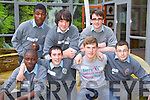 Students from CBS, The Green Secondary School, Tralee, who attended the KDYS Youth Day on Friday last were front l-r: Farouq Falade, Damien Murphy, Hugh Stewart and David Pula. Back l-r: Henry Adedeji, Louis Wells and Conor Hall..