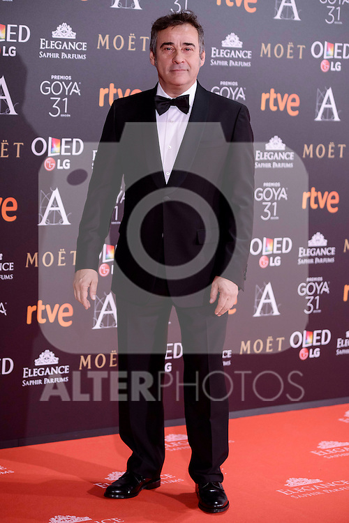 Eduard Fernandez attends to the Red Carpet of the Goya Awards 2017 at Madrid Marriott Auditorium Hotel in Madrid, Spain. February 04, 2017. (ALTERPHOTOS/BorjaB.Hojas)