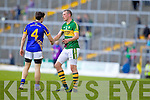 Kieran Donaghy, Kerry in action against Ciaran McDonald, Tipperary in the first round of the Munster Football Championship at Fitzgerald Stadium on Sunday.