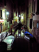 Night view of a canal in Venice, Italy on Tuesday, October 19, 2010..Credit: Ron Sachs / CNP