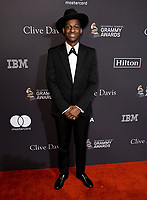 09 February 2019 - Beverly Hills, California - Leon Bridges. The Recording Academy And Clive Davis' 2019 Pre-GRAMMY Gala held at the Beverly Hilton Hotel.   <br /> CAP/ADM/BT<br /> &copy;BT/ADM/Capital Pictures