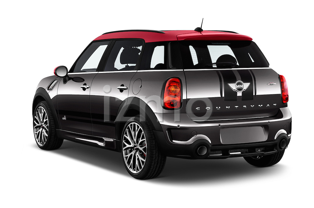 Car pictures of rear three quarter view of 2016 MINI Countryman JCW 5 Door Hatchback Angular Rear