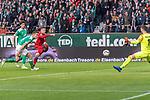 01.12.2018, Weser Stadion, Bremen, GER, 1.FBL, Werder Bremen vs FC Bayern Muenchen, <br /> <br /> DFL REGULATIONS PROHIBIT ANY USE OF PHOTOGRAPHS AS IMAGE SEQUENCES AND/OR QUASI-VIDEO.<br /> <br />  im Bild<br /> <br /> Milos Veljkovic (Werder Bremen #13)<br /> Niklas Moisander (Werder Bremen #18)<br /> Robert Lewandowski (FC Bayern Muenchen #09)<br /> Jiri Pavlenka (Werder Bremen #01)<br /> <br /> Foto &copy; nordphoto / Kokenge
