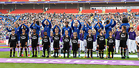 20170601 - CARDIFF , WALES : Lyon's line up pictured during a womensoccer match between the teams of  Olympique Lyonnais and PARIS SG, during the final of the Uefa Women Champions League 2016 - 2017 at the Cardiff City Stadium , Cardiff - Wales - United Kingdom , Thursday 1  June 2017 . PHOTO SPORTPIX.BE | DAVID CATRY