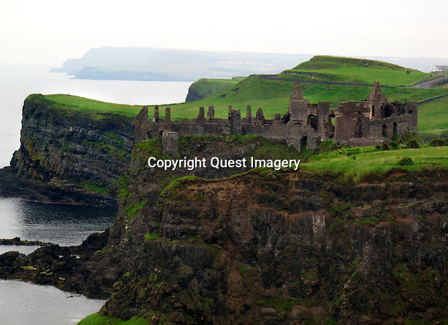 Dunluce Castle, a Medieval Irish Castle on the Antrim Coast along the Causeway Coast in Northern Ireland.<br />