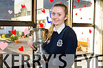 Kelly Pierce  who was the winner of the Soroptimist Ireland girls public speaking regional  competition ,which was held in the Meadowlands Hotel on January 31st . Kelly was joint winner and top eight in her category