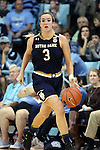 22 January 2017: Notre Dame's Marina Mabrey. The University of North Carolina Tar Heels hosted the University of Notre Dame Fighting Irish at Carmichael Arena in Chapel Hill, North Carolina in a 2016-17 NCAA Division I Women's Basketball game. Notre Dame won the game 77-55